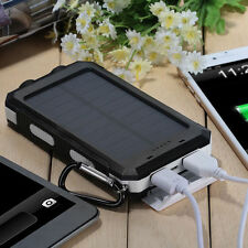 20000mAh LED Portable Solar Panel Charger Dual USB Battery Power Bank Waterproof