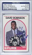 1989 NBA Hoops 138 David Robinson AUTHENTICATED San Antonio Spurs RC Rookie Card