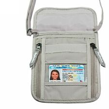 Travel Neck Pouch Bag Passport Holder Wallet Blocking Phone Protecting Organizer