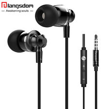 Langsdom M300 Super Bass Dynamic Headset Stereo Earphones with Mic for Phone PC