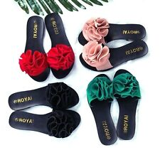 2017 Summer Women Beach Shoes Flower Flat Sandals Slippers Sandal Flip Flops New