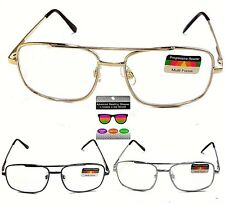 Men Women PROGRESSIVE 3 in one Multi Focal No Line Computer Glasses & Reading
