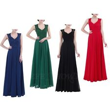 Women Party Lace Chiffon Long Dress Bridesmaid Evening Party Cocktail Maxi Dress