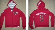 NWT Aeropostale womens HOODED sweatshirt zip-up JACKET hoodie juniors M 6 7 8 9