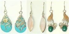 pick a pair VINTAGE Sterling Silver Turquoise Malachite Mother of Pearl earrings