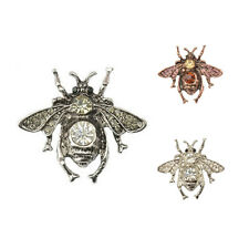 Inset Bee Brooch Pin Rhinestone Bee Brooches Small Lapel Tone Bug Fly Bee W8R5