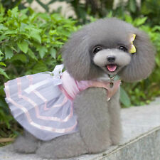 Cute Pet Dog Cat Bow Tutu Dress Lace Skirt Puppy Dog Princess Costume Clothes