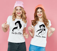Frozen Elsa and Anna inspired best friends sisters white tank tops set