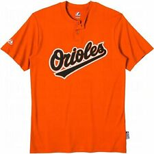 Majestic MLB Cool Base 2-Button Synthetic Team Jersey Tee - Baltimore Orioles