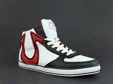 True Religion ACE HI Leather Men's Casual Fashion White Black Red Sneakers