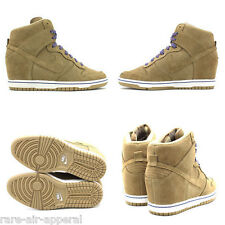 NIKE DUNK SKY HI HIGH-TOP BAMBOO SUEDE WEDGE SHOES/BOOTS WOMENS