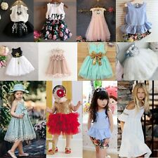 Toddler Girl Summer Princess Bow Dress Baby Wedding Party Pageant Tutu Dresses