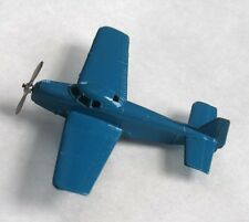 Vintage Tootsietoy 1940s Shiny Blue Navion Propeller Airplane Original Exc