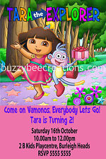 Dora the Explorer Personalised Birthday Invitations Printed