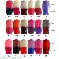 Fashion 10ml Lasting Bright Colorful Temperature Change 18 Colors Nail Polish