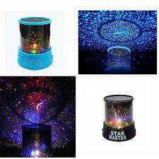 Romantic Sky Projector LED Star Master Lamp Colorful Twilight Party Blue/Black
