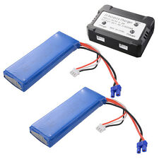 1x/2x 7.4V 2700mAh 30C Lipo Battery + 2 in 1 Battery Charger For Hubsan H501S