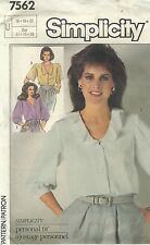 Simplicity 7562 Misses' Blouse 16, 18, 20     Sewing Pattern