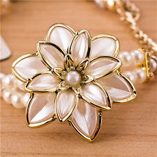 Watches 1Pcs White Flower Luxury Wrist Watch Quartz Hot Sale Ladies Women Wrist