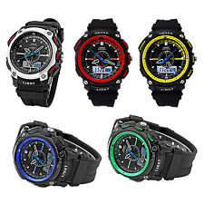 OHSEN Digital LCD Alarm Date Mens Sport Rubber Watch Blue Y1N6
