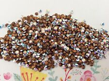 Swarovski #1012 Vintage Rhinestones Crystal AB Gold Foiled REPAIR Size option
