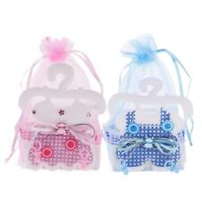 12x Baby Cloth Organza Gift Bags Girl Boy Baby Shower Candy Favor Bags Pink/Blue