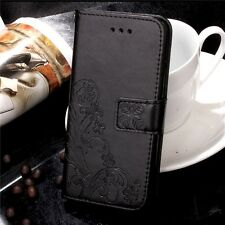 Luxury Patterned Leather Magnetic Flip Card Wallet Cover Case For Apple iPhone