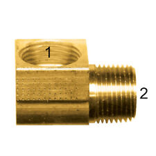 "Inverted Flare Fittings. Tube Elbow. Brass Fitting 5/8"" tube x 3/8 Male Pipe"
