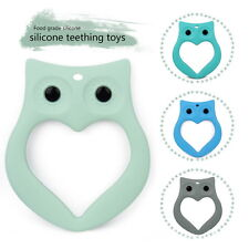 Charm Silicone Baby Teether Owl Chew Teething Necklace Pendant Chew Toy