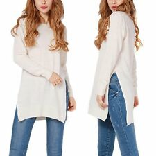 AU Womens Loose Knitted Jumper Sweater Casual Long Sleeve Tops Pullover Cardigan