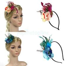 Vintage Feather Flower 1920s Hairband Fascinator Ascot Race Gatsby Headpieces