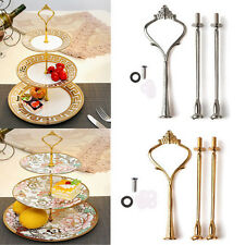 2/3 Tier Cake Plate Stand Crown Handle Fitting Rod Wedding Display Stand Sturdy
