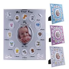 My First Year Baby Photo Frame Monthly Picture Collage Newborn Keepsake Gift