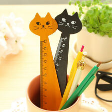 Charm Wood Straight Ruler School Stationery Cute Cat Style Wooden Ruler