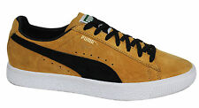 Puma Clyde Lace Up Mens Suede Gold Black Trainers 361466 01 D35