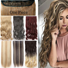 Real Thick Ombre Clip in 3/4 Full Head Hair Extensions One Piece As Human Agb