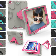 Shockproof Hybrid Heavy Duty Rubber With Hard Stand Case Cover For iPad 2 3 4