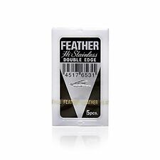FEATHER Hi-Stainless Platinum Shave Shaving Double Edge Razor Blades Blade JAPAN