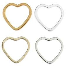 20pcs Alloy Heart Shape Ring Pendants Charms Findings for Jewelry Making Crafts