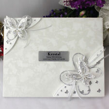 50th Birthday Guest Book - 3d Butterfly - Add a Name & Message
