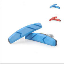 2X  MTB Mountain Road Bike Bicycle Cycling V Brake Holder Pad Shoe Block Blue CN