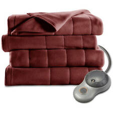 Sunbeam Electric Heated Fleece Blanket - 5 Heat Settings & 10-Hour Auto-Off
