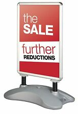 A1 Silver or Black Eco Forecourt Waterproof Outdoor Pavement Display Sign