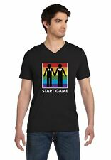 Game On Same Sex Wedding Gay Men Couples Love Pride V-Neck T-Shirt Rainbow S 2XL