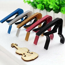 Clamp Quick Change Classic Guitar Silver Clamp Key Capo For Acoustic Electric