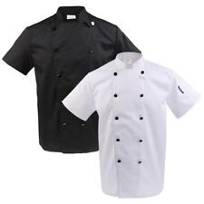 Men Women Double Breasted Short Sleeve Chef Jacket Coat Unisex Chef Apparel