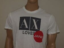 Armani Exchange Authentic AX loves Japan Logo T shirt White NWT