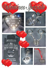 Personalised gift Engraved photo keyring necklace loveheart lock pot fathers day