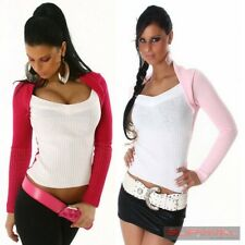 NEW WOMENS JUMPER SIZE 6 8 10 12 SWEATER SEXY CLUB WEAR TOP PINK WHITE S M L