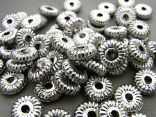 10mm 100/200/500pcs ANTIQUE SILVER COLOR ACRYLIC SPACER BEADS AB02416